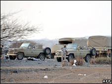 Saudi troops near the Yemeni border