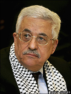 Mahmoud Abbas during campaigning for 2005 election