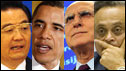 Hu Jintao, Barack Obama, Stavros Dimas and Jairam Ramesh