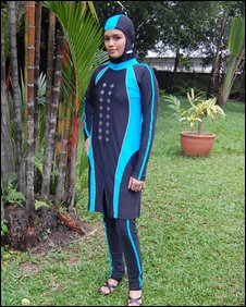 Islamic swimwear by designer Nuraini Mohammed Ariffin