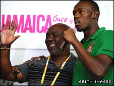 Glen Mills and Usain Bolt