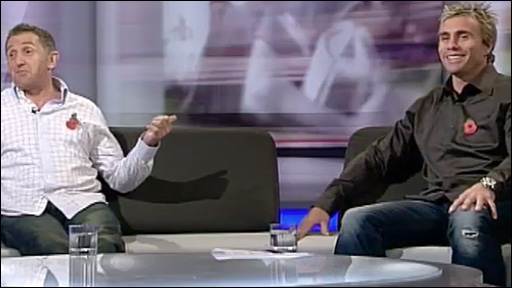 Jonathan Davies & Justin Marshall on the Scrum V couch