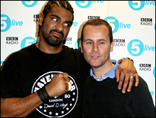 David haye with BBC Sport's Frank Keogh