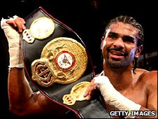 David Haye with his WBA bekt