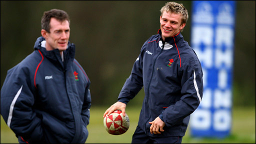 Rob Howley (left) and Dwayne Peel