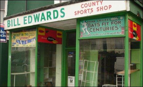 Bill Edwards' sports shop in Swansea