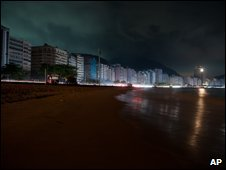 Rio's Copacabana beach during the blackout