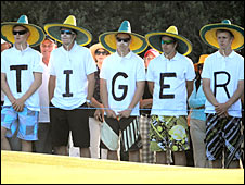 Supporters of Tiger Woods