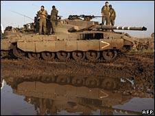 Israeli tank in Golan
