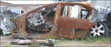 Remains of Ingushetian leader's bombed car