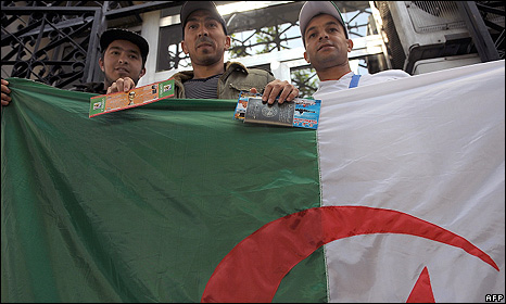 Algerian fans prepare to travel to Cairo