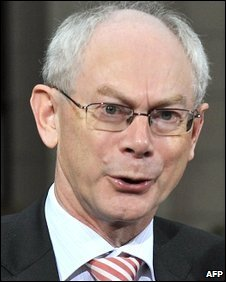 Herman Van Rompuy at the European Council headquarters in Brussels, 30 October 2009