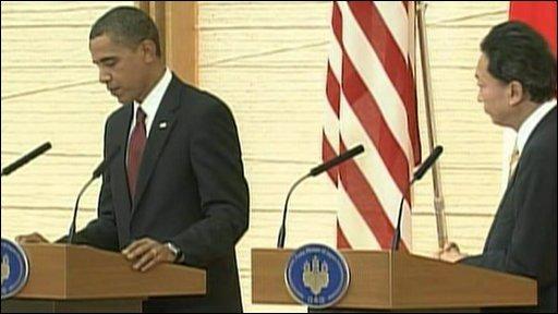 US President Barack Obama and Japanese Prime Minister Yukio Hatoyama