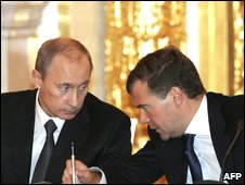 Valdimir Putin and dmitry Medvedev