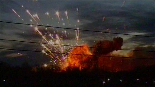 Explosions at the Ulyanovsk arms depot