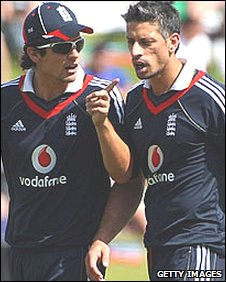 Alastair Cook and Sajid Mahmood