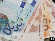 Euro notes, file picture