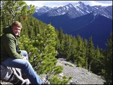Ray Mears taking looking across to the Rockies