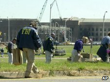 FBI searching the aftermath of 9/11 attacks