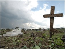 A grave yard in the Democratic Republic of Congo