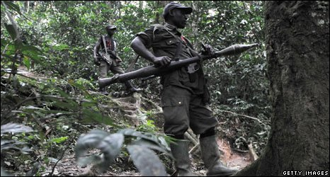 File pic of FDLR rebels in Congo