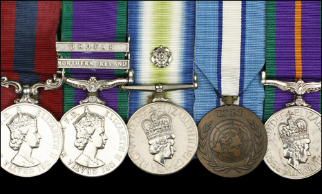 Captain M. K Townsend's medals
