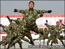 Chinese military training demonstration