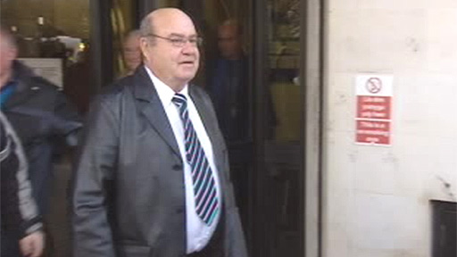 Raymond Thomas, Brian Thomas&amp;apos;s brother, leaves Swansea Crown Court