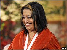 Iraqi-born British architect Zaha Hadid in October 2009