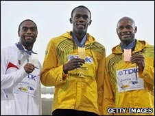Tyson Gay, Usain Powell and Asafa Powell