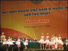 Ceremony at Overseas Vietnamese conference, Hanoi, 21 Nov 09