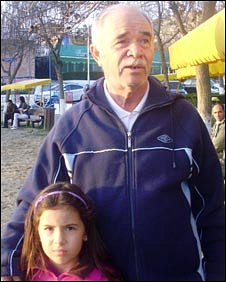 Ion Vilcea and his grand-daughter Georgia-Aurel