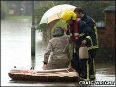 Flooding in Pershore - July 2007.