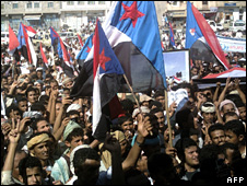 Protesters demanding southern secession in Yemen (27 October 2009)