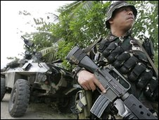 Philippine soldier in Maguindanao