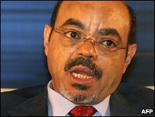 Ethiopian Prime Minister Meles Zenawi, file image