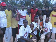 A Rwandan cricket team