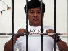 Chief suspect in the Maguindanao massacre: Andal Ampatuan Jr in a Manila cell - 27 November 2009