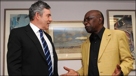 Gordon Brown and Jack Warner