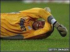 David Marshall in pain against Ipswich