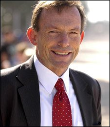 Tony Abbott, leader of Australian Liberal Party