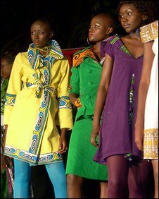 Women modelling Kenyan fashion designs