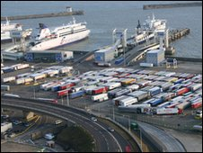 The Eastern Docks today: moving freight as well as people