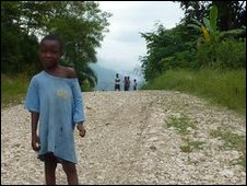 A boy in rural Haiti