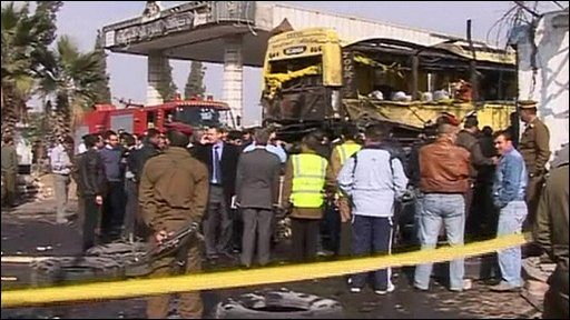Bus explosion in Damascus
