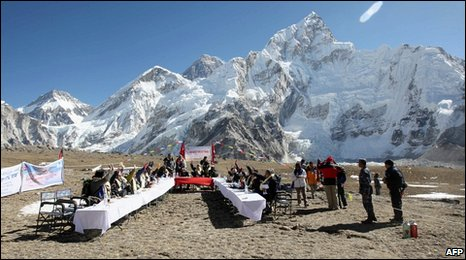 Nepal cabinet meeting on Mount Everest