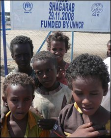 Eritrean children at the Shagarab camp in Sudan