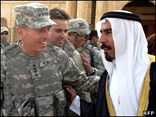 Gen David Petraeus and Abdel Sattar Abu Risha (2007)