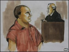 Courtroom drawing of David Headley