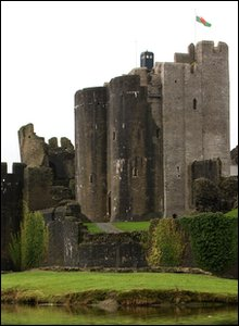 Tardis at Caerphilly Castle